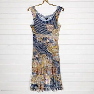 Komarov Lined Floral Summer Dress Size Medium
